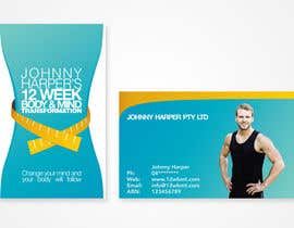 iamwiggles tarafından Business Card Design for Johnny Harper's 12 Week Body & Mind Transformation için no 7