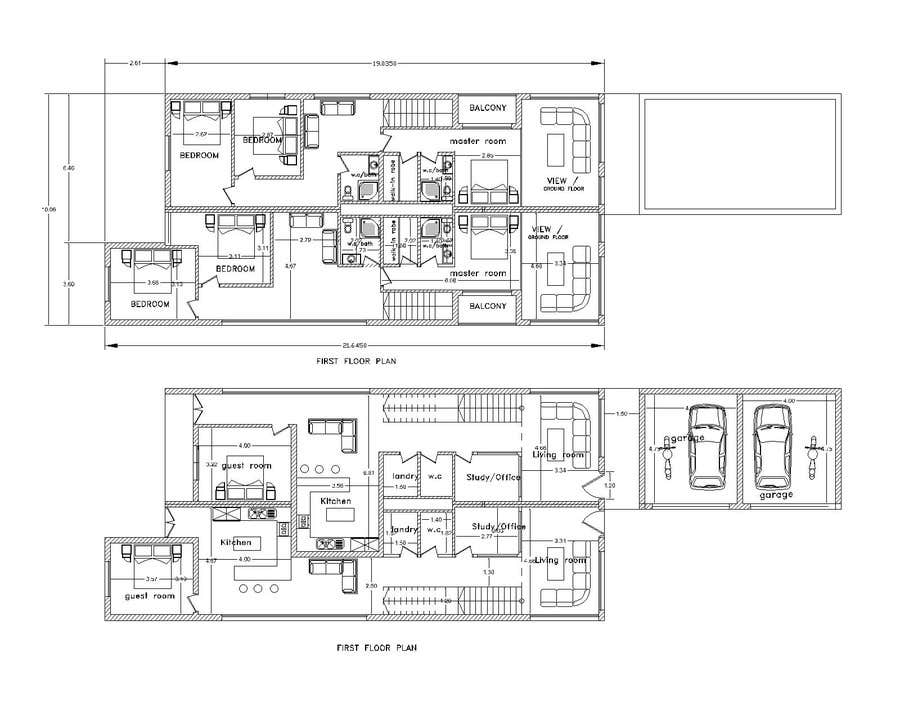 #34 for Provide a floor plan for a duplex by archiimed