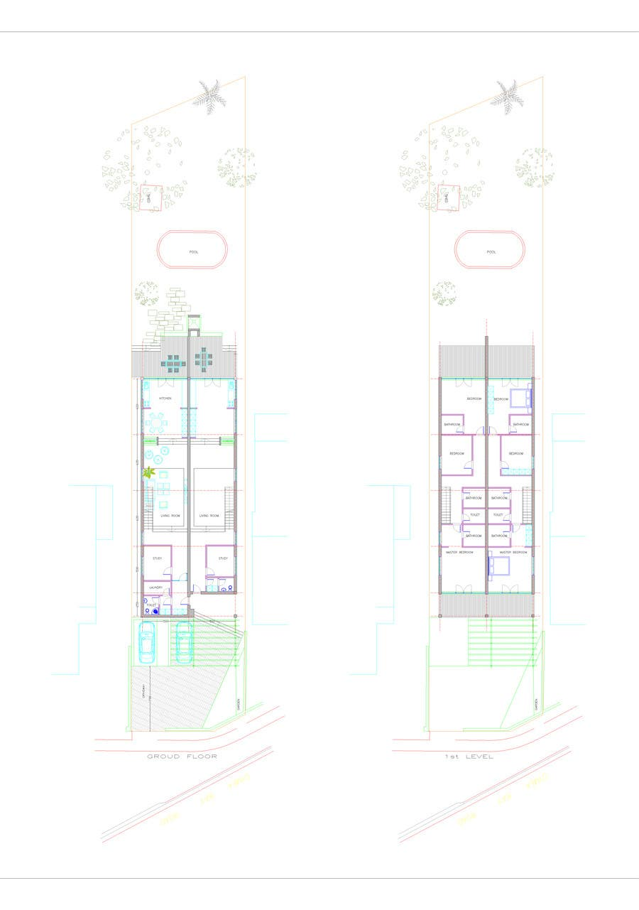 #37 for Provide a floor plan for a duplex by cristinacoman80