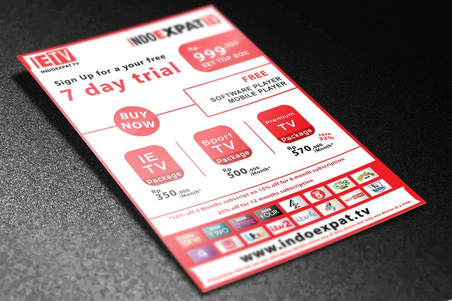 #15 for Design a Flyer for IPTV Company by niyajahmad