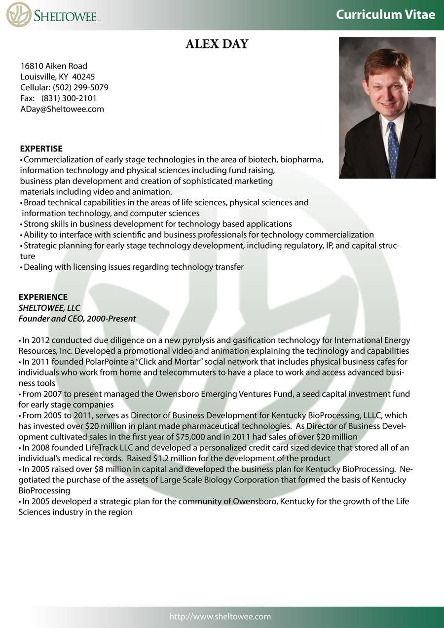 Contest Entry #17 for Graphic Design for Curriculum Vitae