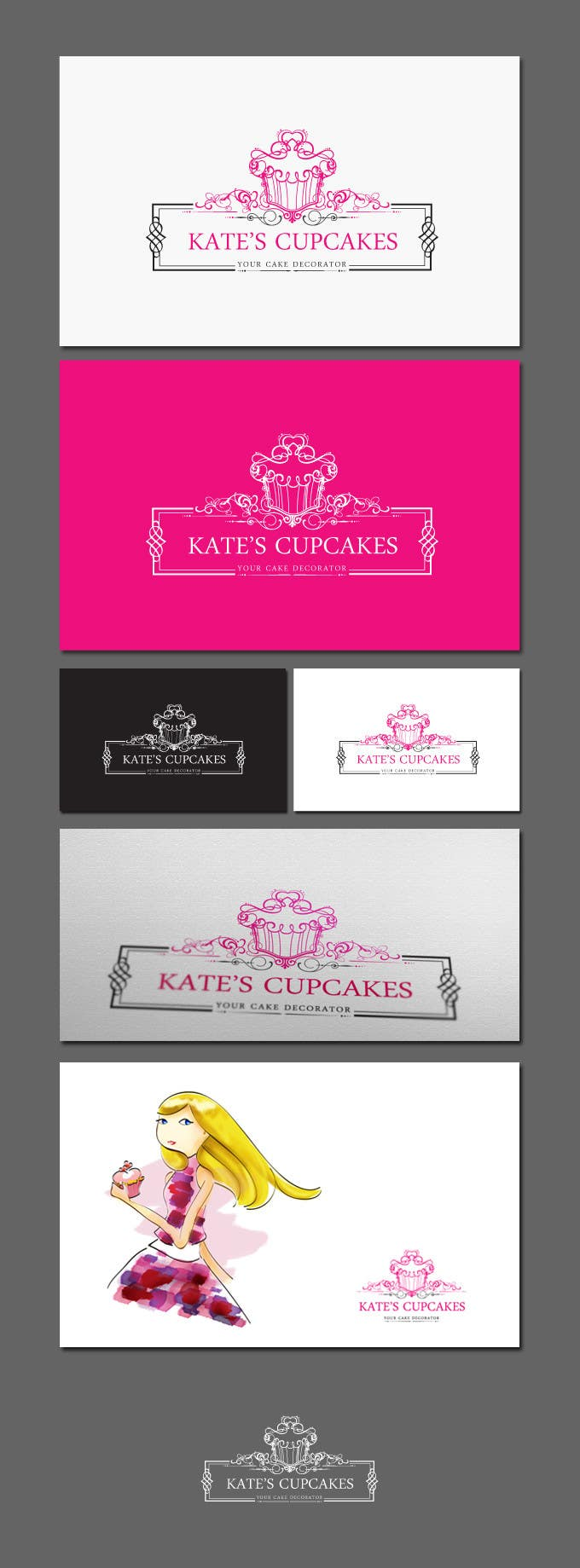 Konkurrenceindlæg #                                        71                                      for                                         Logo Design for Kate's Cupcakes