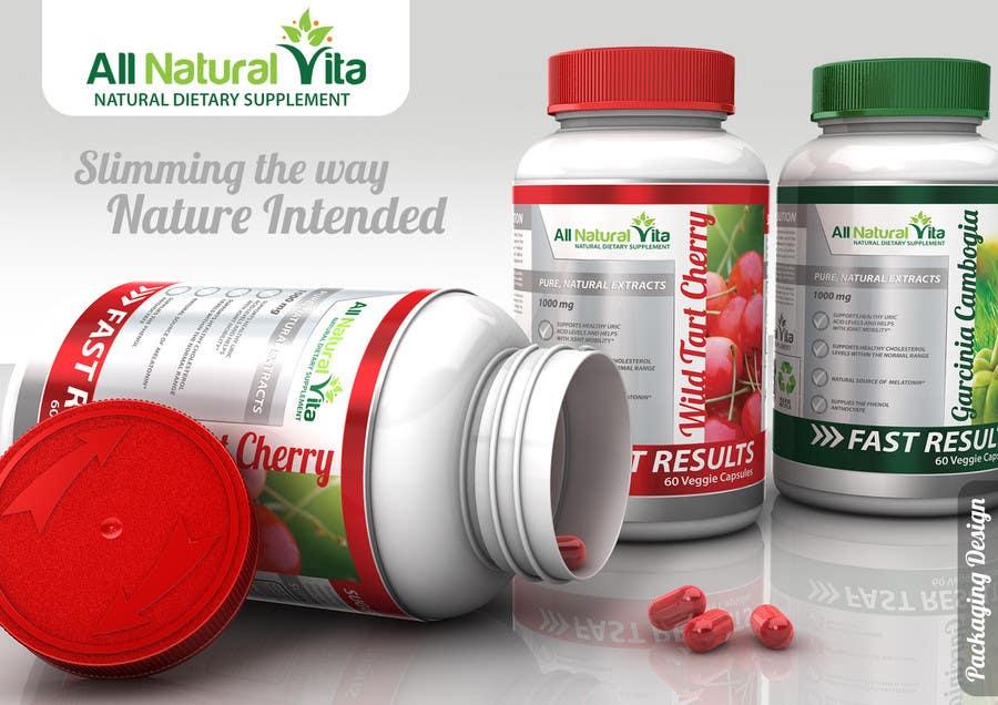 Proposition n°                                        37                                      du concours                                         Design a supplement Bottle Label for All Natural Vita