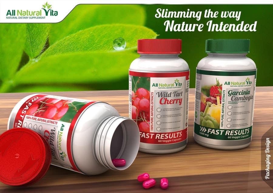 Proposition n°                                        51                                      du concours                                         Design a supplement Bottle Label for All Natural Vita
