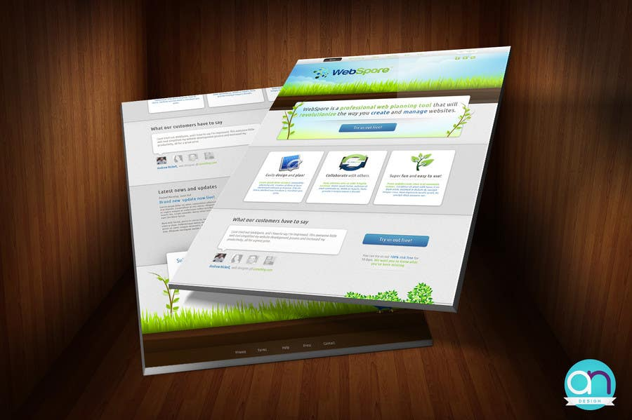 Contest Entry #8 for Website Design for WebSpore