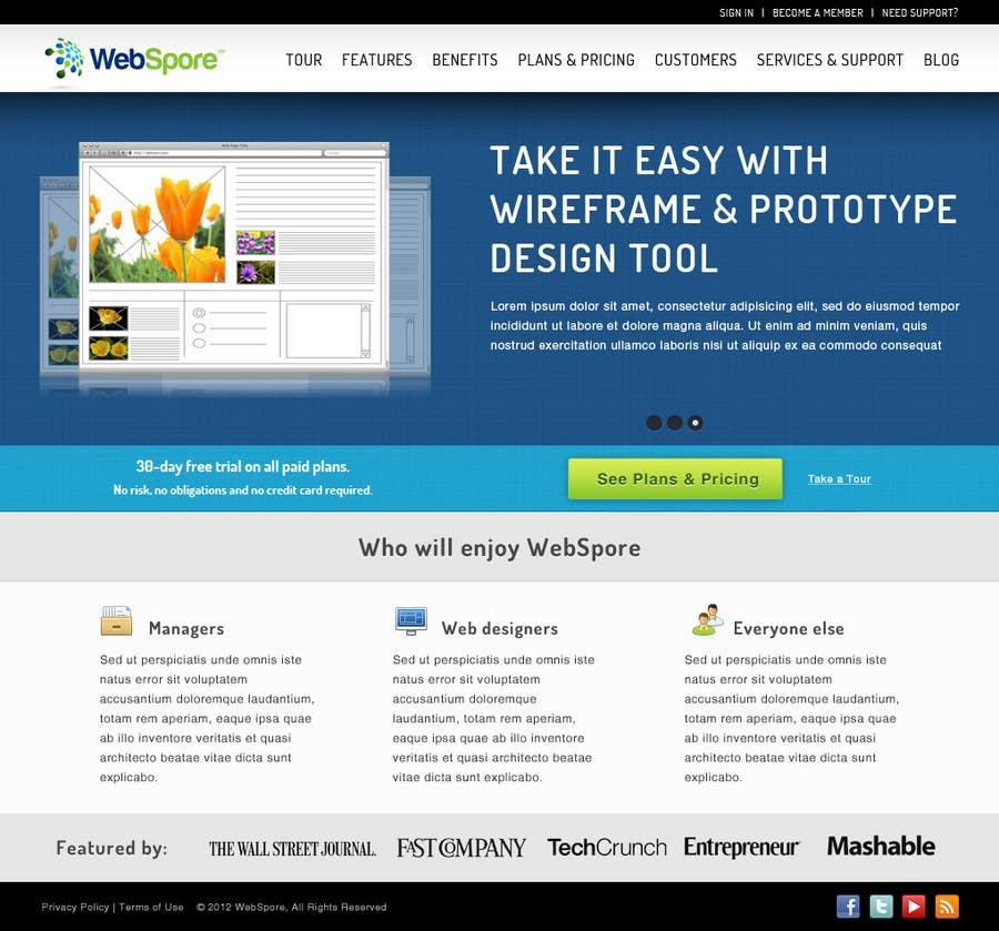 Bài tham dự cuộc thi #2 cho Website Design for WebSpore