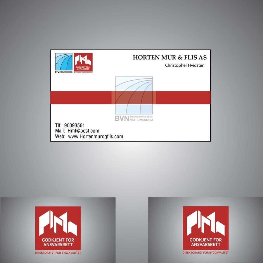 Inscrição nº                                         26                                      do Concurso para                                         Design noen visittkort for Horten Mur og Flis AS