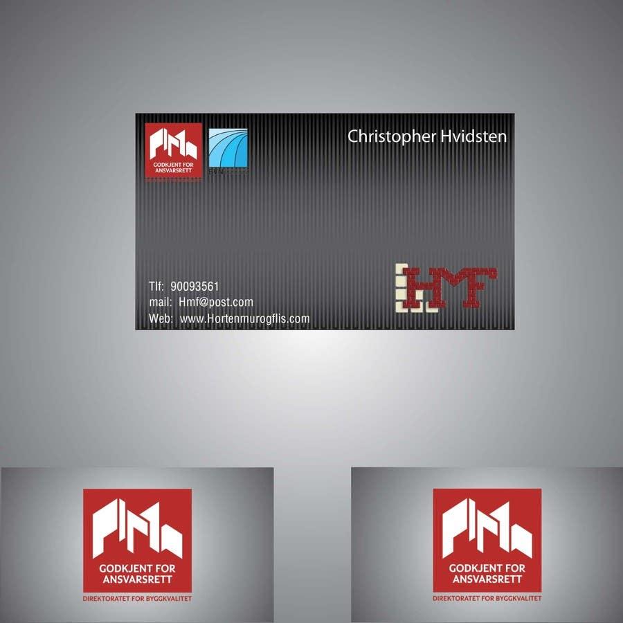 Inscrição nº                                         28                                      do Concurso para                                         Design noen visittkort for Horten Mur og Flis AS
