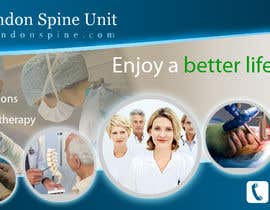 nº 105 pour Banner Ad Design for London Spine Unit par farhanpm786
