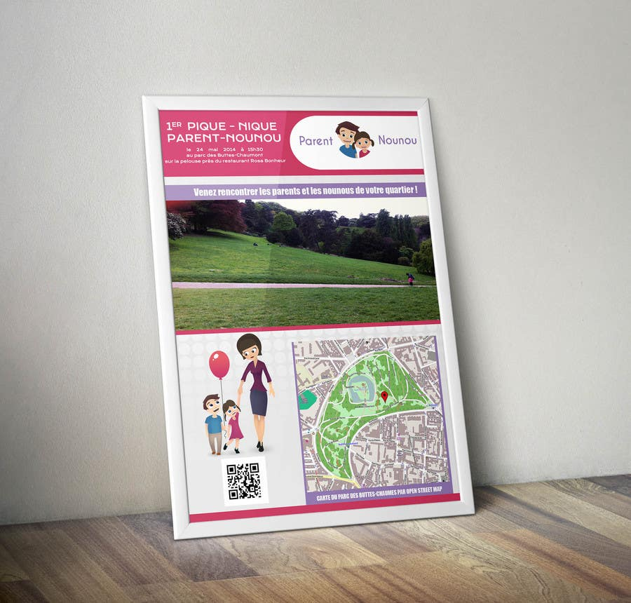 #22 for Create a flyer to advertise picnic related to website launch (in French) by niyajahmad