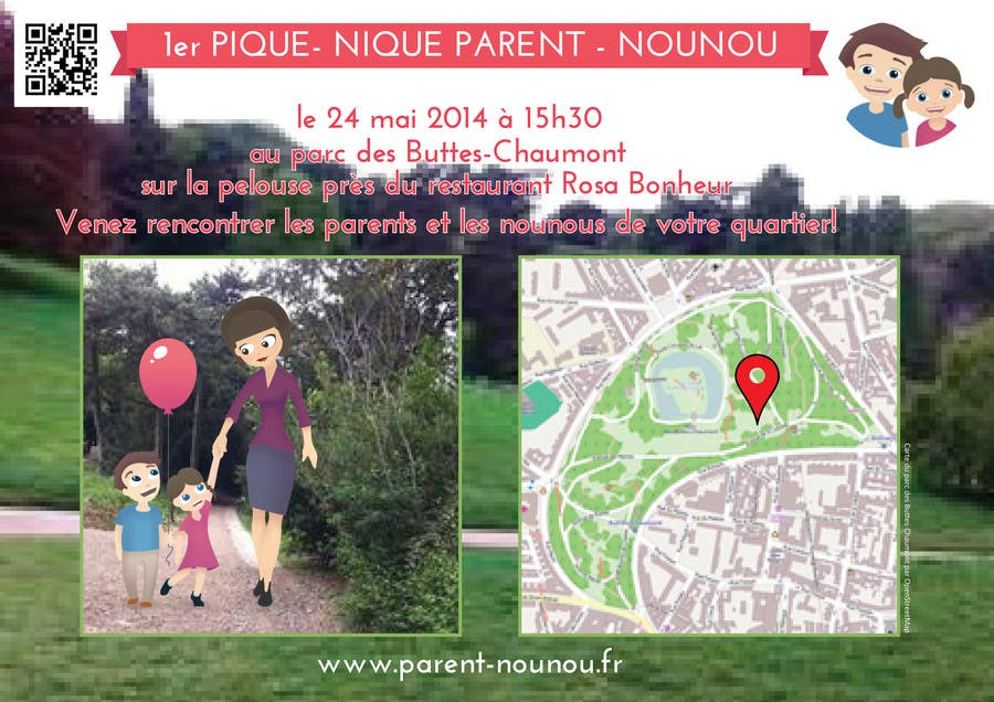 #14 for Create a flyer to advertise picnic related to website launch (in French) by Sele2