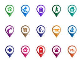 #20 for Redesign 15 Map Markers for a Locator Page by praxlab