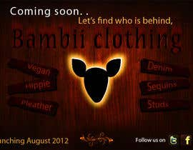 #25 cho Graphic Design for bambii clothing.ca bởi farhanpm786