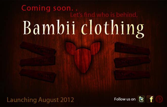 Penyertaan Peraduan #                                        14                                      untuk                                         Graphic Design for bambii clothing.ca