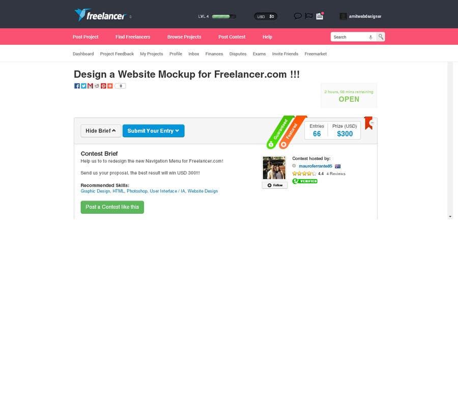 #69 for Design a Website Mockup for Freelancer.com !!! by amitwebdesigner