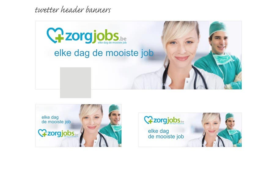 #10 for Ontwerp een Banner for facebook, twitter, linkedin header for a health care jobboard by nicoscr