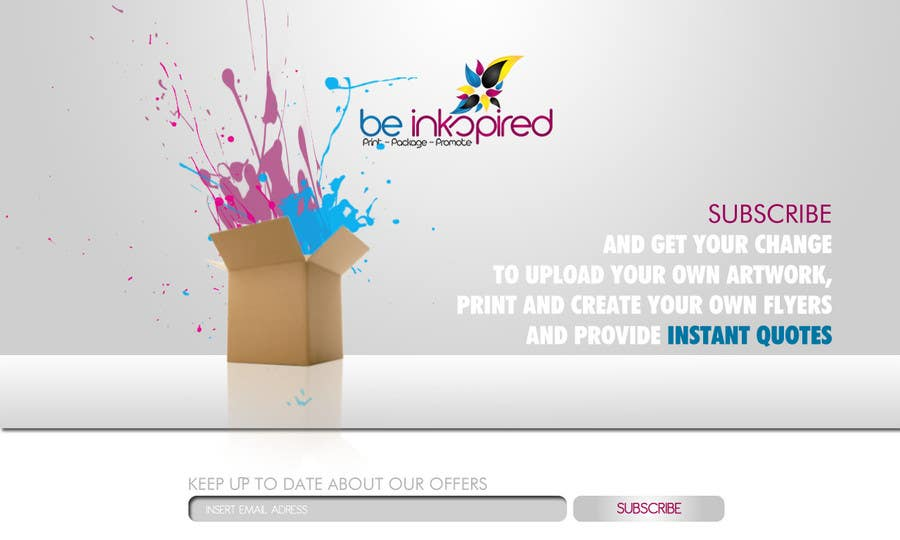 Contest Entry #                                        12                                      for                                         Landing Page for Be Inkspired