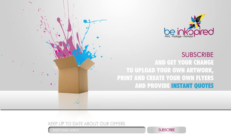 Contest Entry #                                        13                                      for                                         Landing Page for Be Inkspired