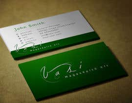 #53 untuk Create a business card with special characters oleh emadrazanmay