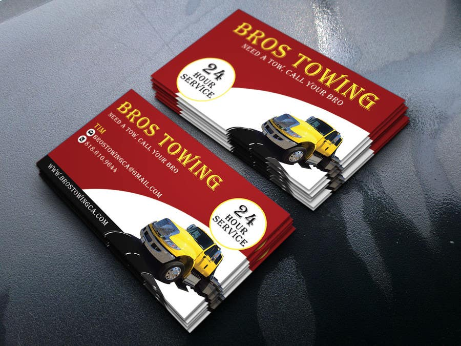 Entry #62 by arupbh0001 for Tow truck business cards | Freelancer