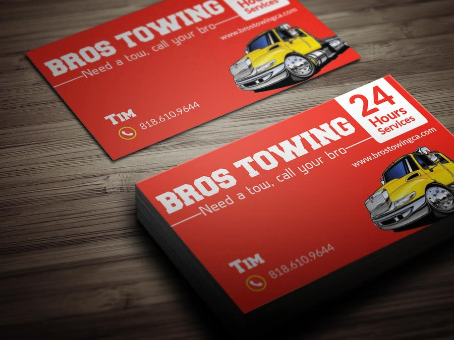 Entry #33 by BikashBapon for Tow truck business cards | Freelancer