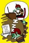 Bài tham dự #6 về Illustration cho cuộc thi Workaholic illustration or cartoon. Design single-panel illustration or cartoon symbolizing a Workaholic (multiple winners possible).
