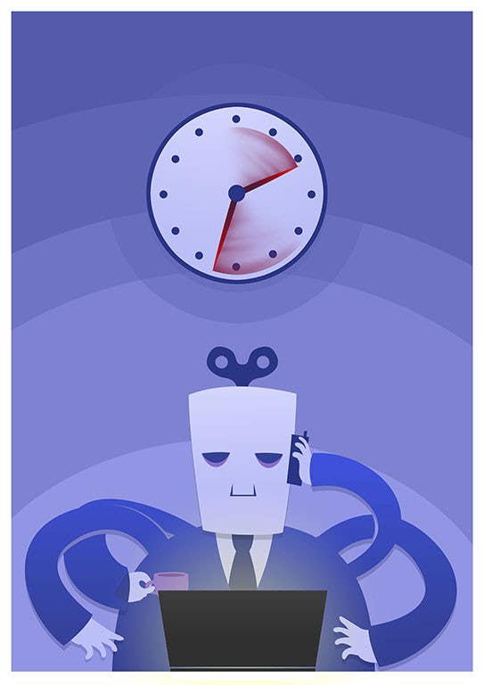 Bài tham dự cuộc thi #                                        21                                      cho                                         Workaholic illustration or cartoon. Design single-panel illustration or cartoon symbolizing a Workaholic (multiple winners possible).