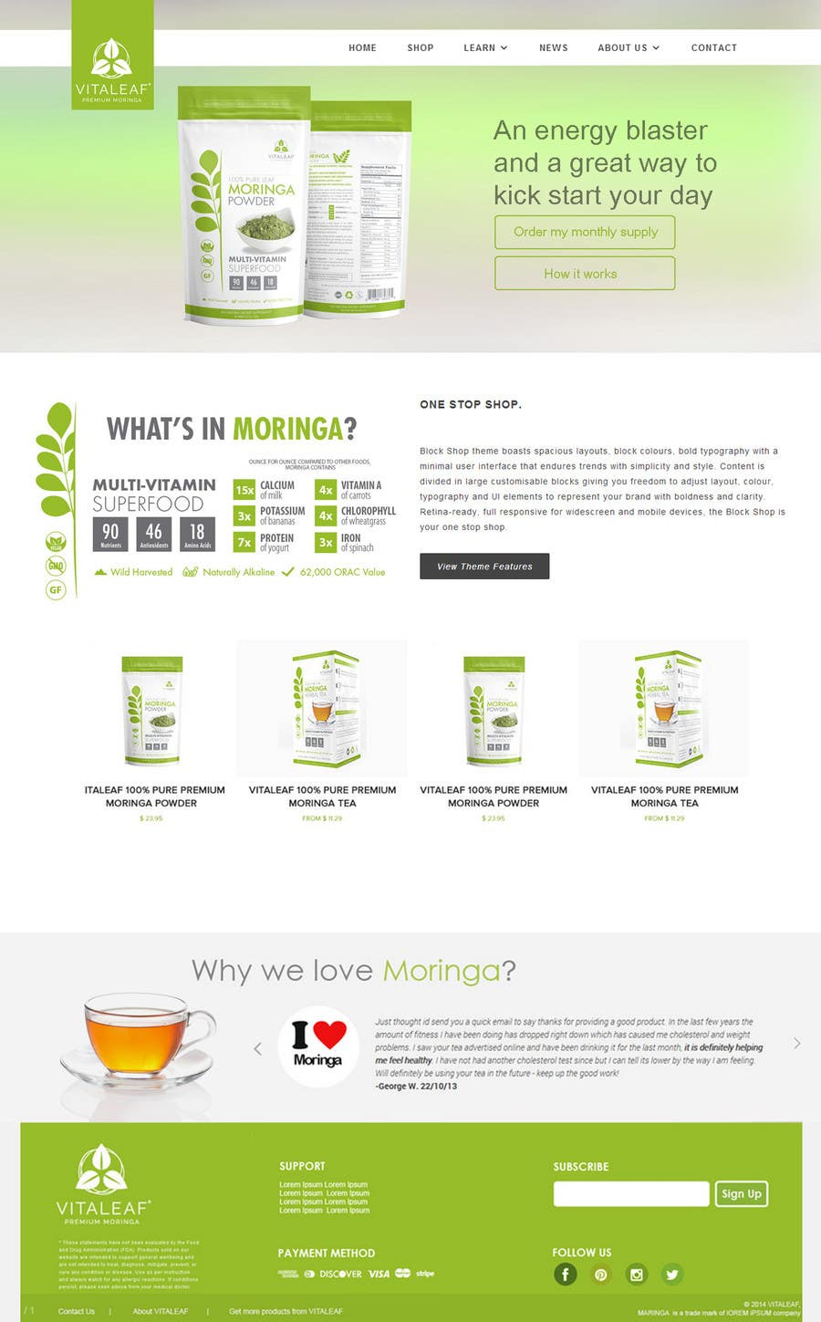 #26 for Customize a Shopify Template for Health Food Supplement Website Mockup by chetanmenaria3
