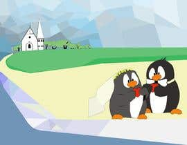 #37 para Drawing / cartoon for wedding invite with penguins near the surf por Stjepan84