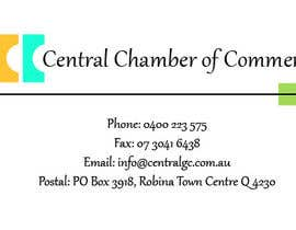 Adriana1609 tarafından ***URGENT*** Business Card Design for Central Chamber of Commerce için no 15