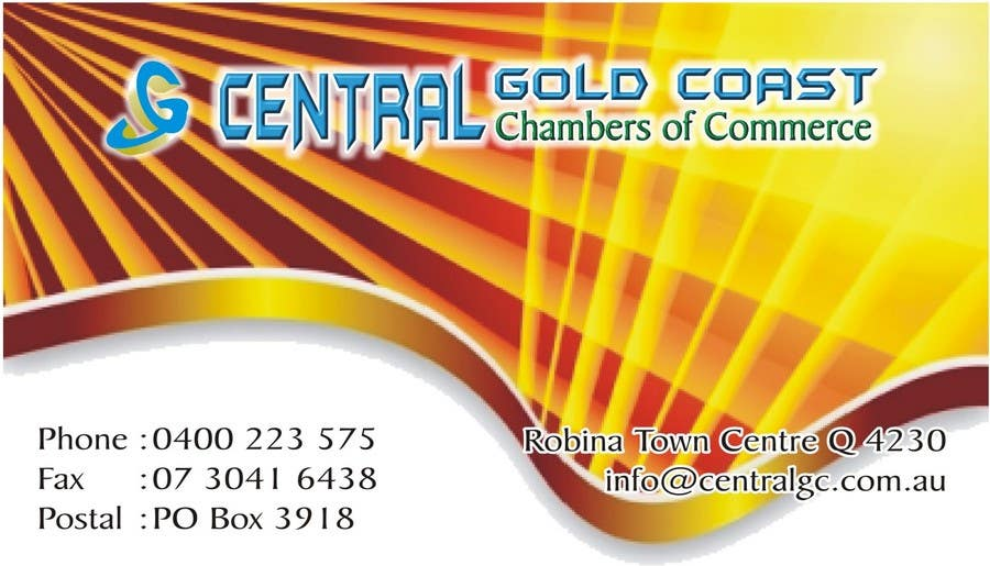Contest Entry #                                        20                                      for                                         ***URGENT*** Business Card Design for Central Chamber of Commerce