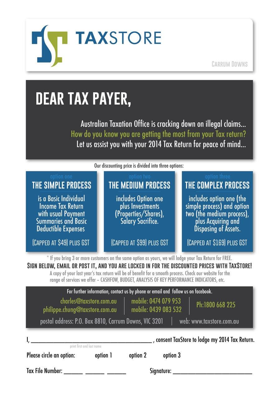 Penyertaan Peraduan #                                        3                                      untuk                                         Design a Brochure for Tax Store & Nova BK