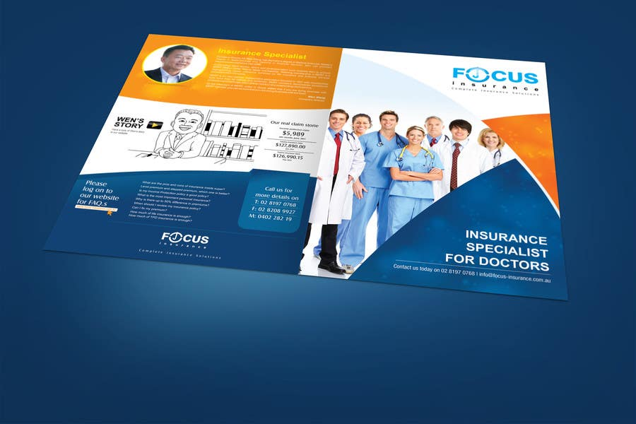 insurance flyer entry 20 by egraphicsvn for design a brochure for doctors
