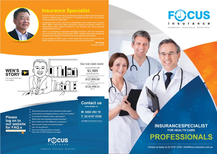 Entry #49 by egraphicsvn for Design a Brochure for doctor's ...