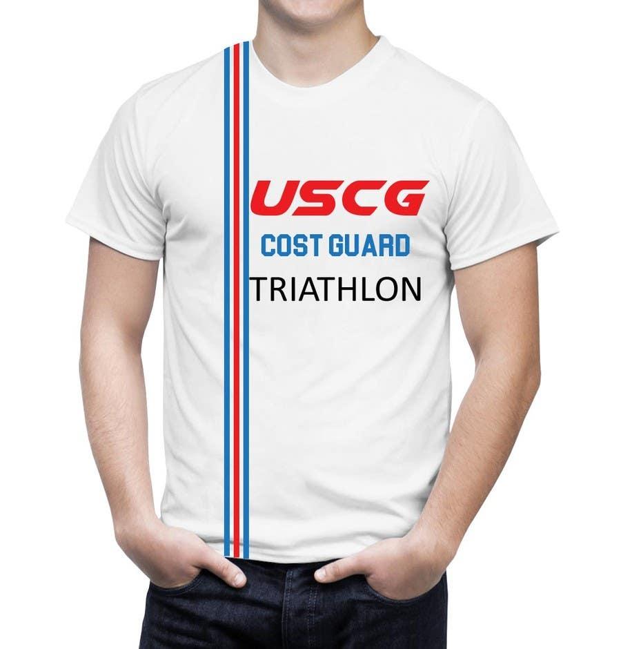 Shirt design cost -  8 For Coast Guard Triathlon T Shirt Design By Lailajulee