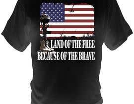 Nro 11 kilpailuun Design a T-Shirt that supports USA Military and/or USA Veterans käyttäjältä bacujkov