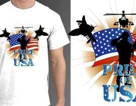 Nro 9 kilpailuun Design a T-Shirt that supports USA Military and/or USA Veterans käyttäjältä jonydep