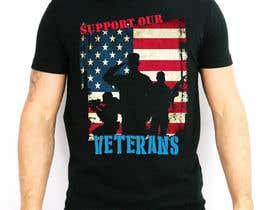 Nro 22 kilpailuun Design a T-Shirt that supports USA Military and/or USA Veterans käyttäjältä darkemo6876