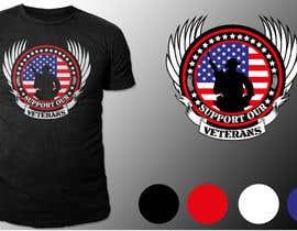 Nro 21 kilpailuun Design a T-Shirt that supports USA Military and/or USA Veterans käyttäjältä richisd