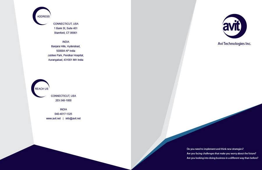 Konkurrenceindlæg #                                        33                                      for                                         Brochure Design for Avi Technologies Inc.