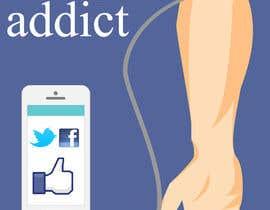 #18 para Social media addict. Design single-panel illustration or cartoon symbolizing a social media addict (multiple winners possible). por samuelsz