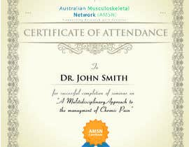 #18 para Certificate of attendance for our events por clementalwin
