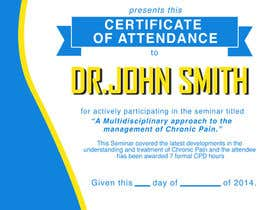 #17 para Certificate of attendance for our events por ibanezdustin1314