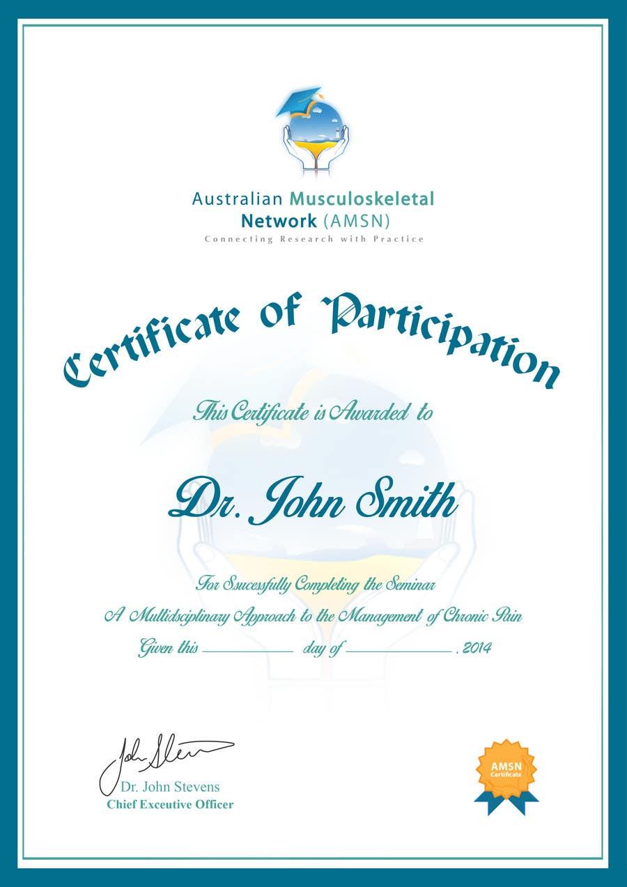 Inscrição nº                                         8                                      do Concurso para                                         Certificate of attendance for our events