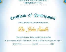 #12 para Certificate of attendance for our events por maraz2013