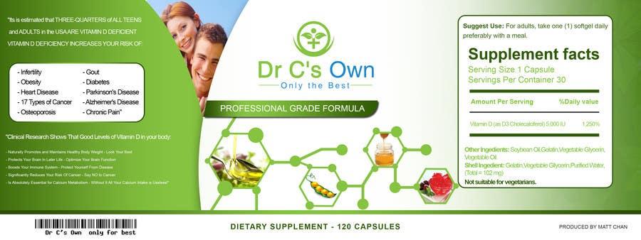 Konkurrenceindlæg #                                        13                                      for                                         Doctor C's Own Health Supplements Label Design Contest!