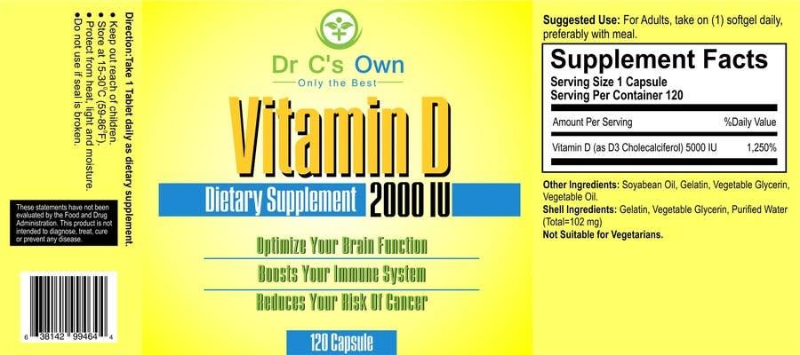 Konkurrenceindlæg #                                        5                                      for                                         Doctor C's Own Health Supplements Label Design Contest!