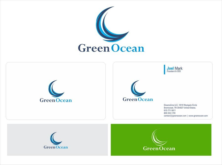 Penyertaan Peraduan #                                        747                                      untuk                                         Logo and Business Card Design for Green Ocean