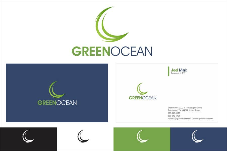 Proposition n°                                        665                                      du concours                                         Logo and Business Card Design for Green Ocean