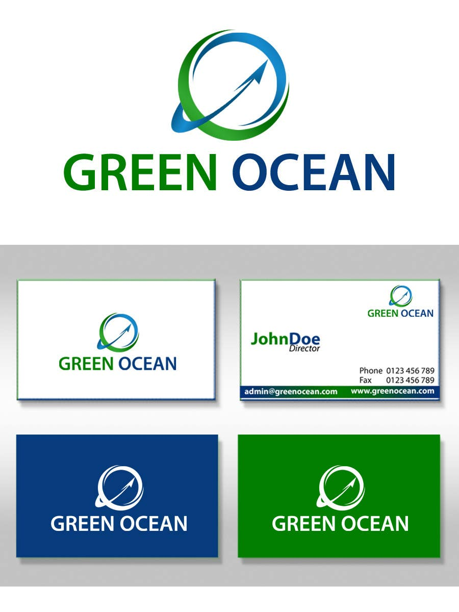 Proposition n°                                        574                                      du concours                                         Logo and Business Card Design for Green Ocean